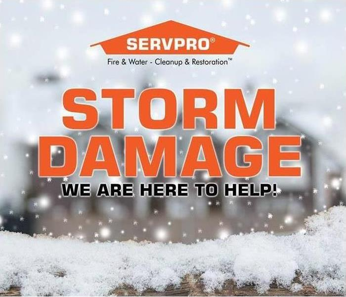 Storm Damage Effective Winter Storm Restoration: Our SERVPRO team has the answers to your property damage repair concerns.